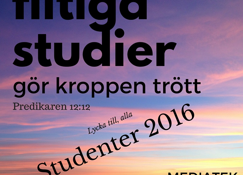 Student 2016 - Flitiga studier